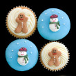 Christmas cupcakes — Stock Photo #2218898