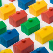 Colorful model houses — Stock Photo