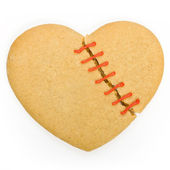 Broken heart cookie — Stock Photo