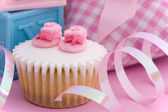 Cupcake for a baby shower — Stock Photo