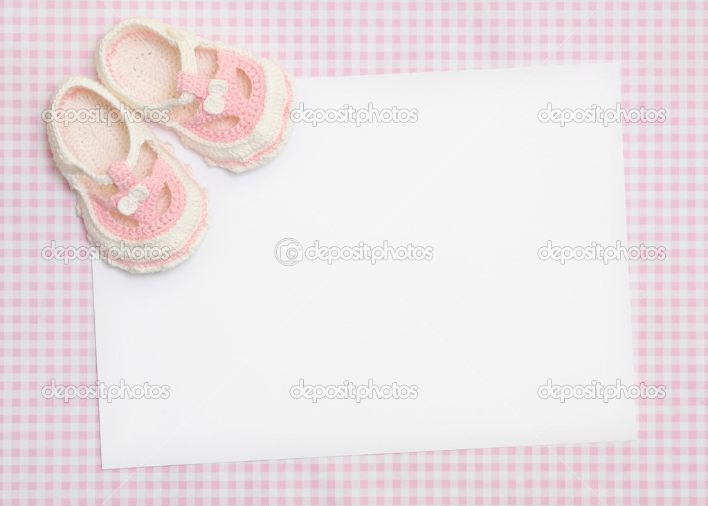 Blank card for new baby or baby shower invitation — Stock Photo #2232670