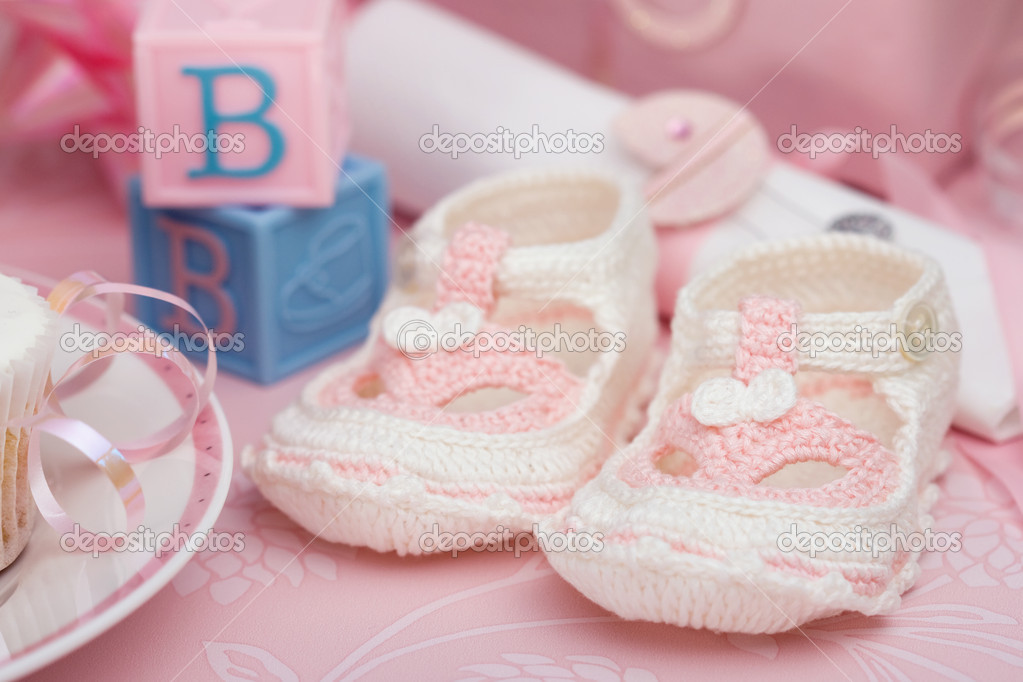 Baby shower for a baby girl  Stock Photo #2232692