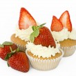 Strawberry cupcakes — Stock Photo