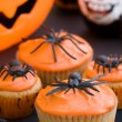 Stock Photo: Halloween cupcakes