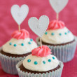 Valentine cupcakes — Stock Photo #2267519