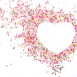 Heart made of sprinkles - Stock Photo
