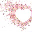 Heart made of sprinkles — Stock Photo