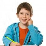 niño haciendo los deberes — Foto de Stock