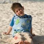 Boy on a beach — Stock Photo