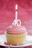 Fyrtionde födelsedag cupcake — Stockfoto