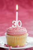 Thirtieth birthday cupcake — Stock Photo