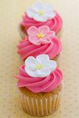 Mini bloem cupcakes — Stockfoto