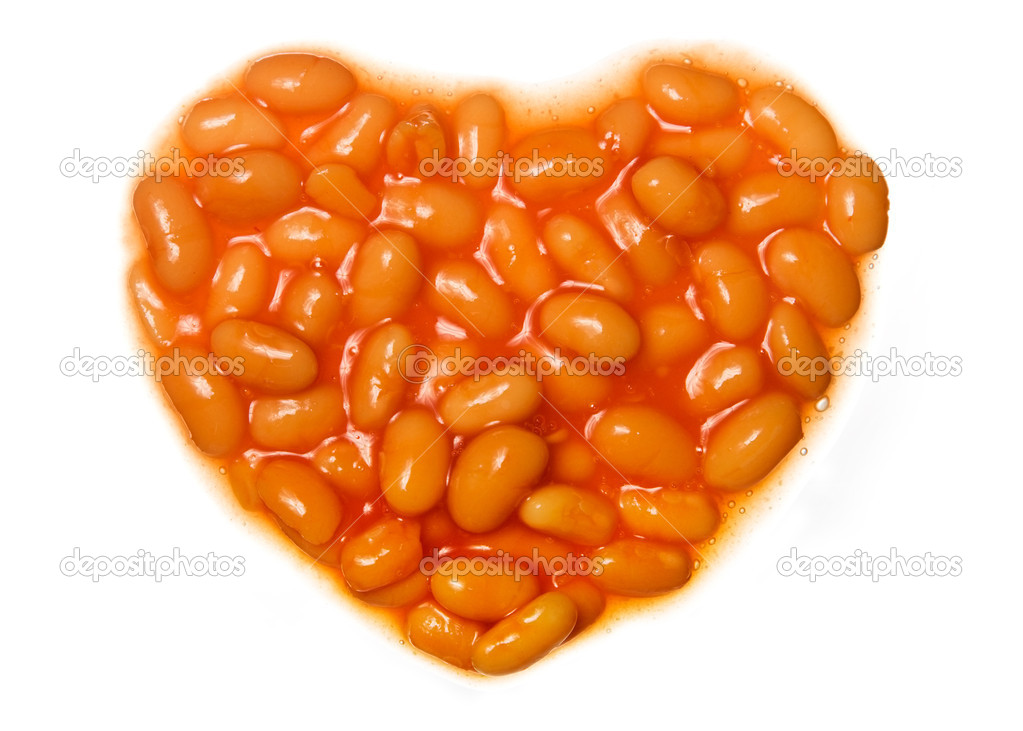 Baked beans in the shape of a heart  Stock Photo #2267733