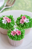 Flower garden cakes — Stock Photo