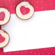 Valentine cupcake background — Stock Photo