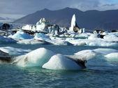 Ledovce na islandu — Stock fotografie