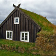 Stock Photo: Icelandic turf house