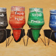 Stock Photo: Recycling Bins