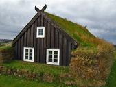 Icelandic turf house — Stock Photo