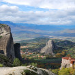 Royalty-Free Stock Photo: Meteora mountains and ortodox monastery