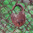 Stock Photo: Old padlock