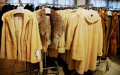 Fur store — Stock Photo