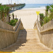 Stairs leading to the beach. — Stock Photo