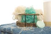 Bathroom shower items. — Stock Photo