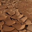 Global warming concept of dry soil. — Stock Photo #2060343