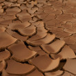 Global warming concept of dry soil. — Stock Photo
