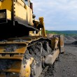 Stock Photo: Bull dozer at coal mine.