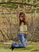 Playful Teen. — Stock Photo
