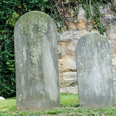 Cemetary Headstones — Stock Photo