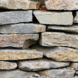 Stone wall fragment — Stock Photo
