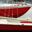 Two red boats — Stock Photo
