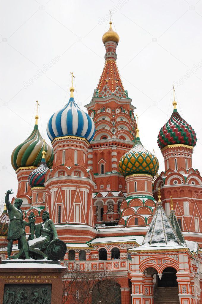 Saint Basil's Cathedral on the Red Square in Moscow — Stock Photo #2064947