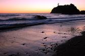 Solnedgång på ruby beach, washington — Stockfoto