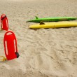 Royalty-Free Stock Photo: Lifeguard\'s gear on the beach