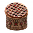 birch bark jewelry casket — Stock Photo
