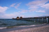 Fishing pier at Naples Beach, Florida — Stock Photo