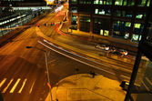Crossroads at Night — Stock Photo