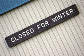 Closed for winter (diagonal) — Stock Photo