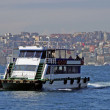 Cutter in Bosporus — Stock Photo