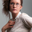 Nerd girl - Stock Photo