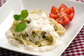 Pasta carbonara — Stock Photo