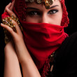 The red veil - Stock Photo