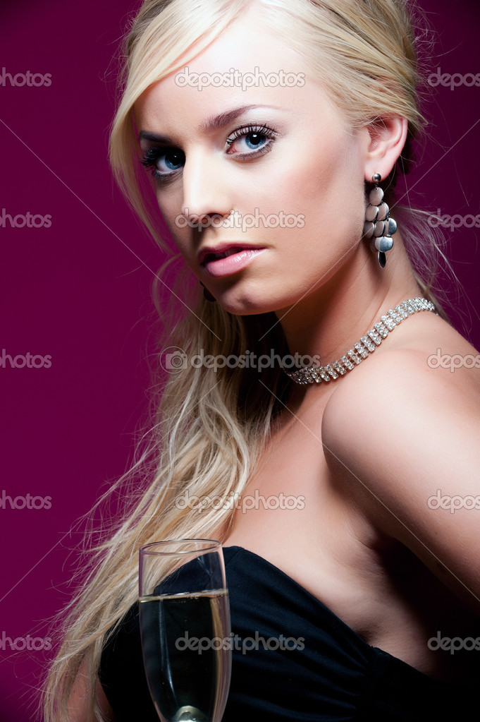 Stunning blonde woman dressed for a party — Stock Photo #2230629