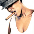 Cigar girl - Stock Photo