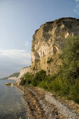 High bank of the Volga River — Stock Photo