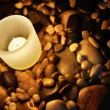 Royalty-Free Stock Photo: Candle and Rocks